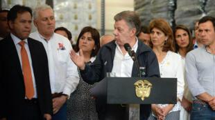El presidente de Colombia Juan Manuel Santos anunció nuevas medidas para regularizar la migración de venezolanos