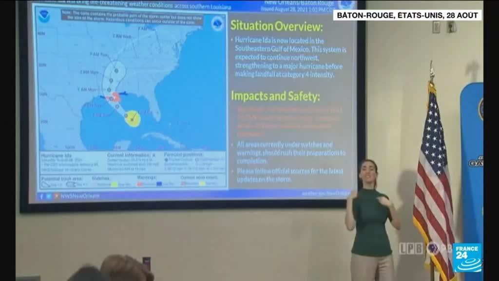 2021-08-29 08:10 La Lousiane se barricade dans l'attente de l'Ouragan Ida