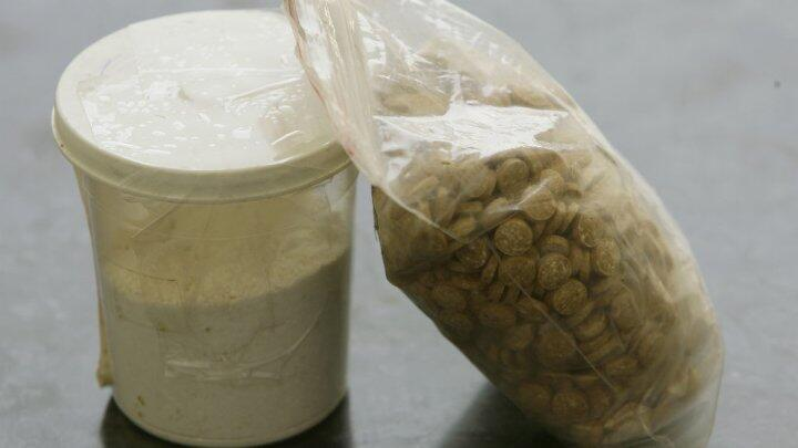 حبوب مادة الكبتاغون المخدرة احتجزتها قوات الأمن في لبنان في حزيران/يونيو 2010