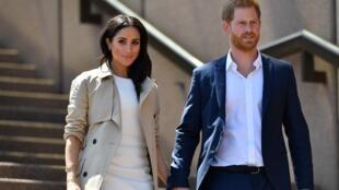 Le prince Harry et son épouse Meghan, en octobre 2018 à Sydney, en Australie.
