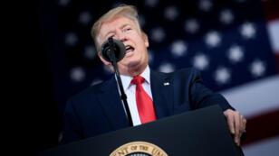 El presidente estadounidense Donald Trump encabeza un acto en Florida, el 8 de mayo de 2019.