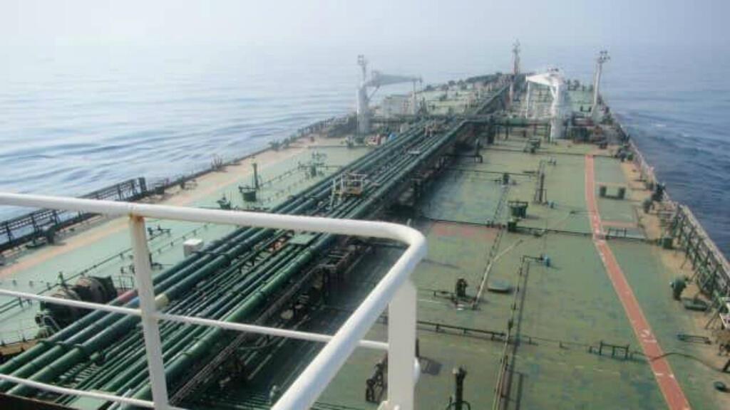 na foto sin fecha muestra el petrolero de Irán 'Sabiti' en el Mar Rojo.