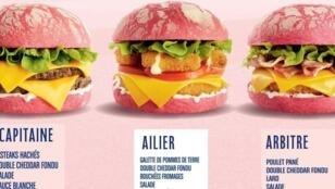 Estas son las hamburguesas rosadas de Speed Burger para el Mundial femenino.