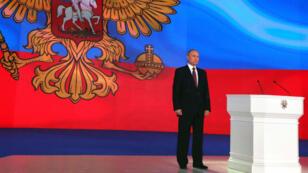 Le président russe, Vladimir Poutine, s'est adressé au Parlement le 1er mars 2018.