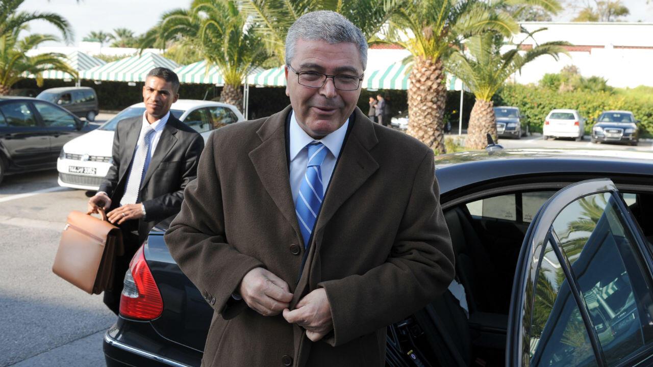Abdelkarim Zbidi, le ministre tunisien de la Défense, au palais présidentiel de Carthage, à Tunis, le 10 février 2011.