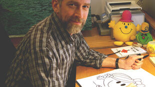 Adam Hargreaves took over the Mr. Men series of children's books, created by his late father, which is marking its 50th birthday
