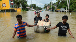 Le Sri Lanka est touché depuis mardi par les plus fortes pluies enregistrées depuis un quart de siècle.