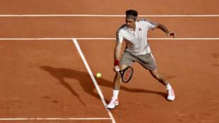 Roger Federer, qualifié pour le 3e tour de Roland-Garros2019.