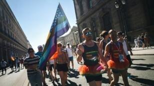 عرض بساحة الكونكورد بباريس بمناسبة انطلاق الدورة العاشرة لألعاب المثليين 4 آب/أغسطس 2018