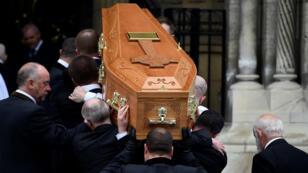 Les funérailles de la journaliste Lyra McKee, le 24 avril 2019 à Belfast.