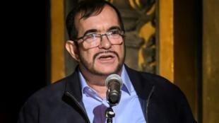 """Rodrigo Londoño, alias """"Timochenko"""", à Bogota le 24 novembre 2017."""