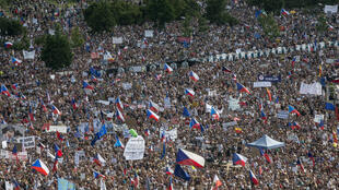 Manifestation géante du 23 juin 2019 à Prague pour exiger la démission d'Andrej Babis.