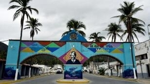 The entrance to Mexico's Islas Marias federal prison on Isla Maria Madre in the Pacific Ocean