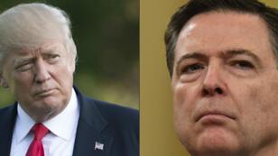 James Comey (à droite) a livré sa déposition écrite sur ses relations avec Donald Trump (à droite) en tant que directeur du FBI.