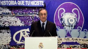 Le président du Real Madrid Florentino Perez.
