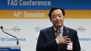Qu Dongyu a obtenu 108voix. Il est le premier Chinois à devenir directeur général de laFAO.