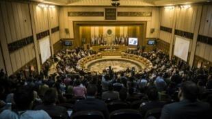 اجتماع لوزراء الخارجية العرب في جامعة الدول العربية في القاهرة في 10 اذار/مارس 2016