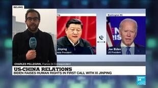 2021-02-11 09:06 US-China relations: Biden raises human rights in first call with Xi Jinping
