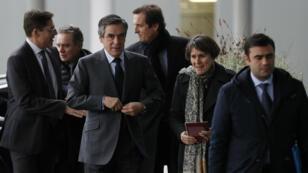 François Fillon, vendredi 27 janvier 2017, arrive aux Archives nationales à Pierrefitte-sur-Seine, pour l'inauguration des archives de Philippe Seguin.