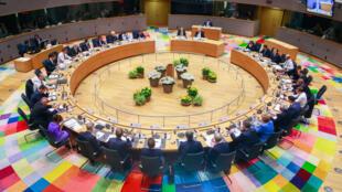 Les dirigeants européens lors du sommet de Bruxelles, le 21juin2019.