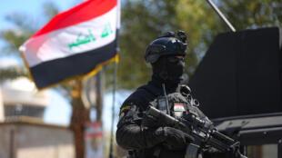 عناصر من جهاز مكافحة الإرهاب العراقي في شوارع العاصمة بغداد في 27 آذار/مارس 2021
