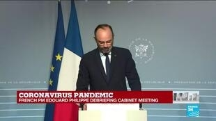 2020-03-25 13:45 Coronavirus pandemic: French PM Édouard Philippe debriefs cabinet meeting