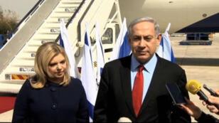 """Benjamin Netanyahou est arrivé dimanche soir aux États-Unis pour une visite de trois jours qu'il qualifie d'""""historique""""."""