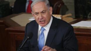 Le Premier ministre israélien devant le Congrès américain le 3 mars 2015.