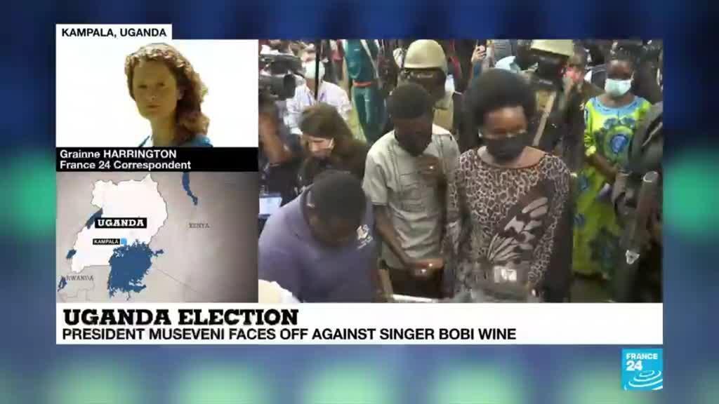 2021-01-14 09:35 Uganda presidential election: President Museveni faces off against singer Bobi Wine