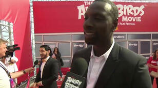 Les comédiens qui prêtent leur voix aux volatiles, parmi lesquels Omar Sy, ont fait le déplacement à Cannes.