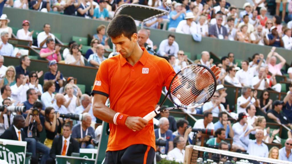 Le Serbe Novak Djokovic durant la demi-finale contre Andy Murray
