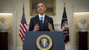 Le président américain Barack Obama lors de son discours sur les relations diplomatiques avec Cuba, le 17 décembre, à la Maison Blanche.