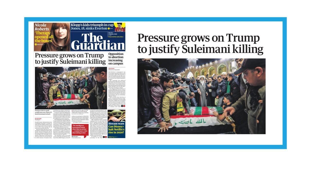 Funérailles du général Soleimani en Iran