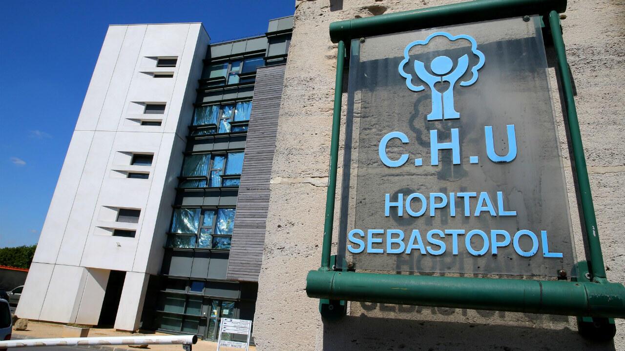 المشفى الذي تلقى فيه فنسان لامبير العلاج في مدينة ريمس الفرنسية.