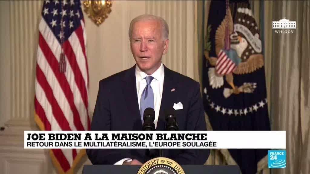 2021-01-21 12:06 Joe Biden à la Maison Blanche : signature des premiers décrets en rupture avec l'ère Trump