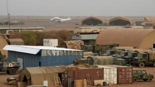 La base française de Gao, dans le nord du Mali, pendant l'opération Barkhane, le 29 mai 2019.