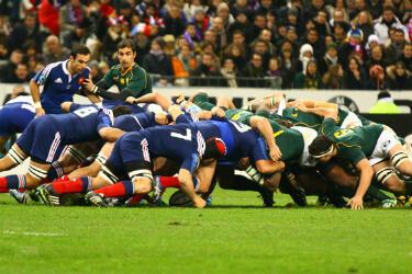Mêlée entre Français et Sud-Africains