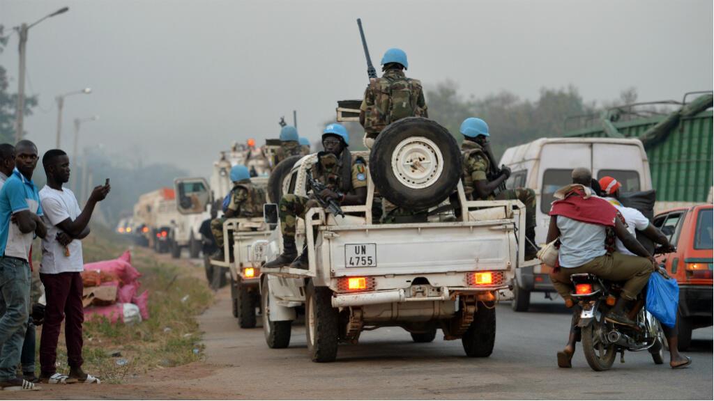 دورية من قوة حفظ السلام الأممية تصل إلى مدينة بواكي للقاء الجنود المتمردين 6 ك2/يناير 2017