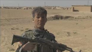 مقاتل من الجيش العراقي خلال معركة الموصل
