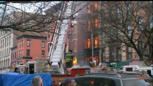 L'incendie s'est déclaré dans le quartier d'East village à Manhattan.