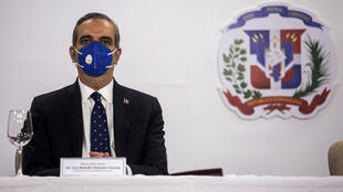 El presidente electo de República Dominicana, Luis Abinader, en un acto en Santo Domingo, el 15 de julio de 2020