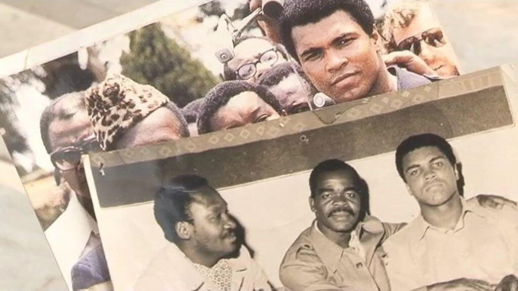 Photos de Mohamed Ali en République démocratique du Congo, en 1974.