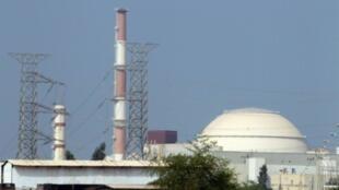 صورة تعود إلى 20 أغسطس/آب 2010 لجزء من مفاعل بوشهر النووي الواقع في جنوب إيران.