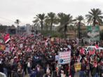 """""""Dehors les Américains!"""": les partisans de Moqtada al-Sadr se sont mobilisés à Bagdad"""