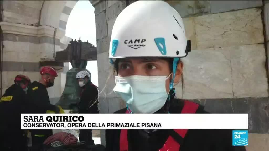 2021-03-27 17:12 Coronavirus pandemic in Italy: The Tower of Pisa takes advantage of the lack of tourists to carry out renovations