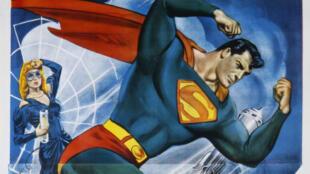 Superman est censé guider le peuple américain vers un avenir meilleur. Et c'est un migrant. Désolé Donald Trump (affiche de la première série télé sortie en 1948).