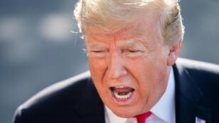El presidente Donald Trump habla con los medios antes de viajar a Colorado en Washington D. C., Estados Unidos, el 30 de mayo de 2019.