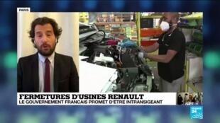 """2020-05-21 10:11 Le gouvernement """"intransigeant"""" sur la préservation des usines Renault en France"""