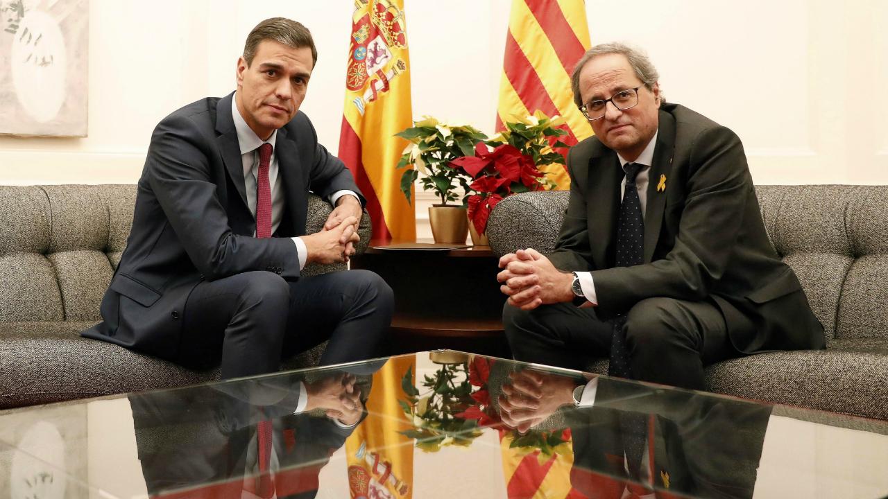 El 20 de de diciembre de 2018 el presidente de España, Pedro Sánchez, se reunió con el presidente de Cataluña, Quim Torra, después de tres años sin reuniones entre los máximos mandatarios.