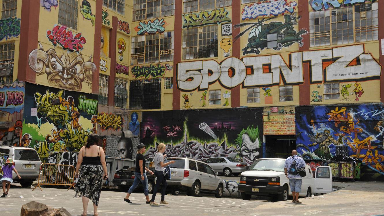Le site de 5Pointz de Long Island City à New York, en 2011.